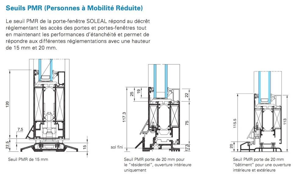 Porte technal soleal py fabricant europ en technal for Seuil pmr porte fenetre